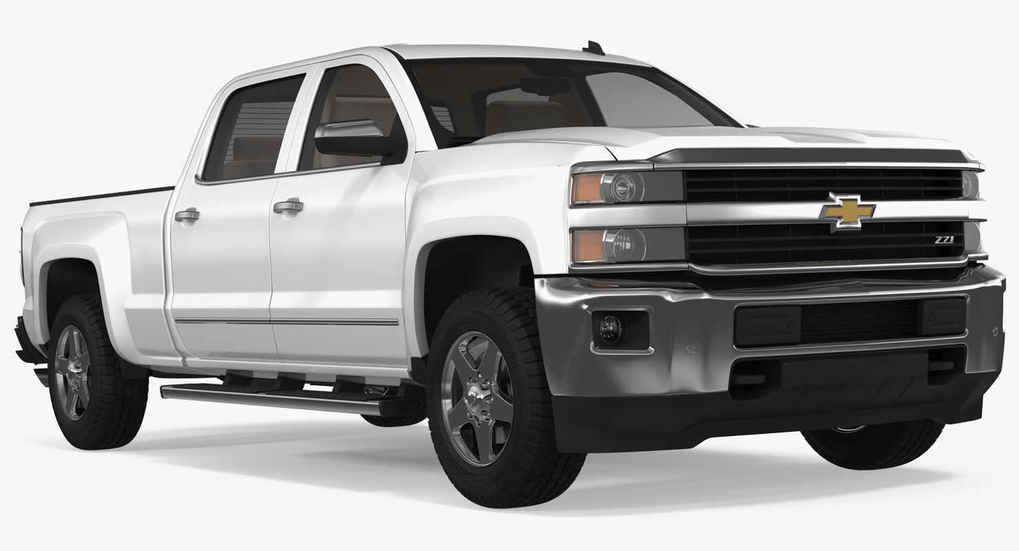 chevrolet silverado 2015 simple model turbosquid 1229818. Black Bedroom Furniture Sets. Home Design Ideas