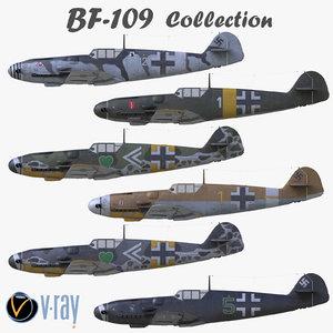 3D bf 109 bf-109 german