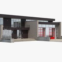 3D modern station building model