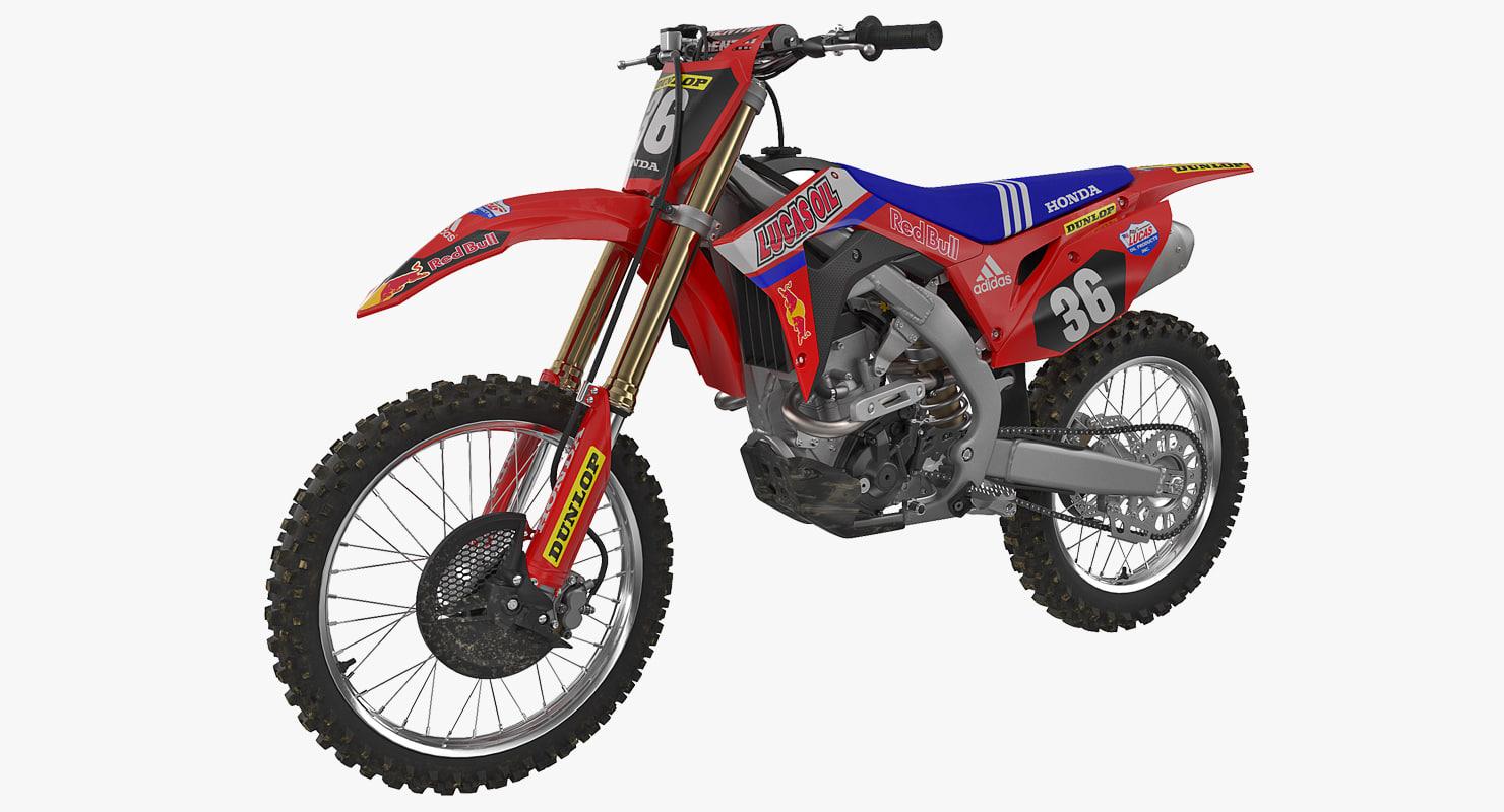 3D motocross bike honda crf250r