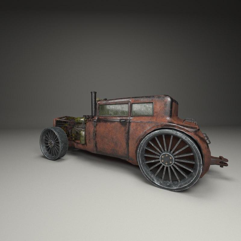 steampunk car model