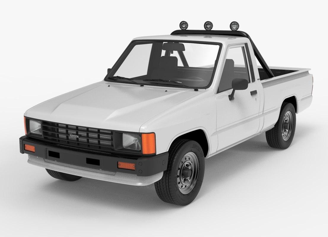 3D toyota hilux 1983-1988 pickup