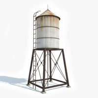 ready water tower 3D model
