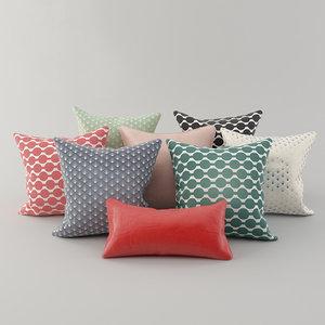 3D pillows h m 2 model