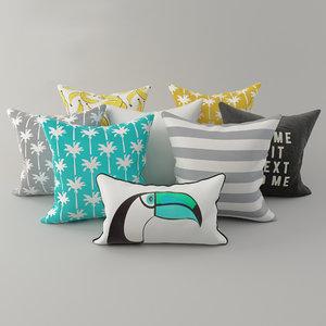 3D model pillows h m