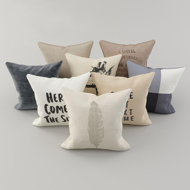 3D pillows h m