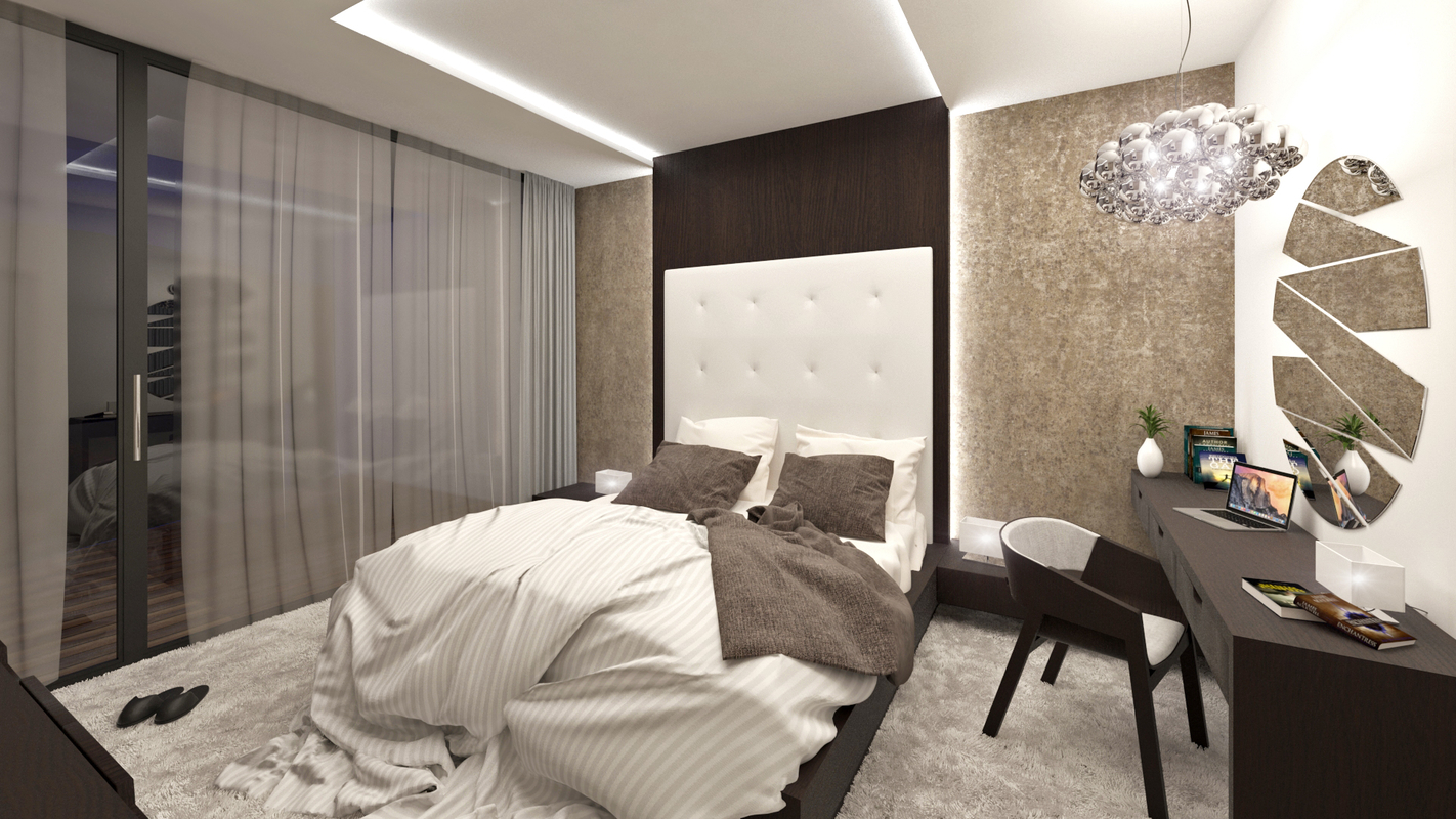 3D modern bedroom interior