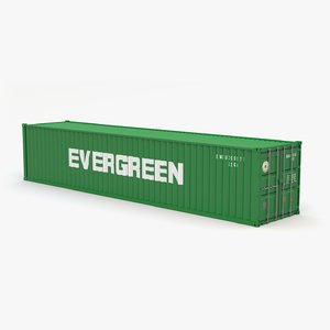 3D evergreen shipping container