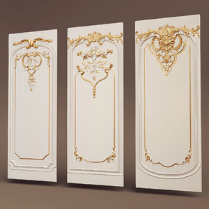 effectivepoly boiserie set 3D model