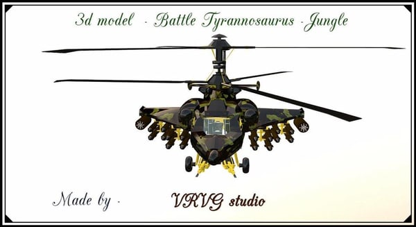 3D fantasy military helicopter -
