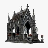 3D model gothic pavilion