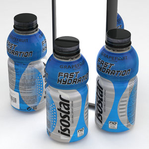 isostar bottle beverage 3D
