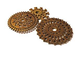 steampunk gear pack 3D model