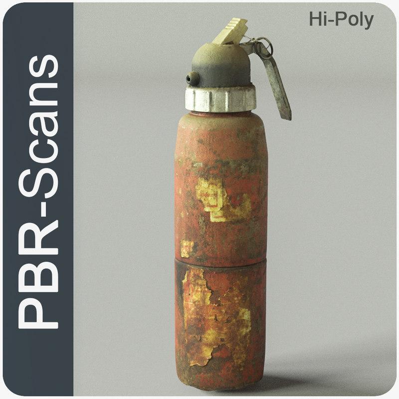 extinguisher pbr scan model