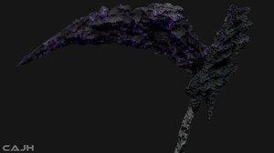 3D scythe death violet model