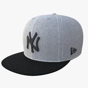 baseball cap f59 3D model