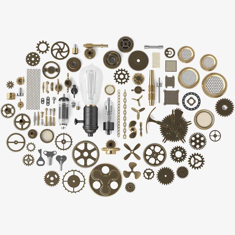 steampunk 88 parts model