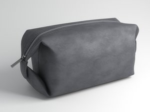 3D grey leather bag