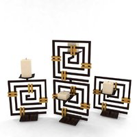 chinese japanese light candle 3D