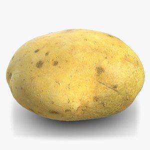 3D model potato raw 2