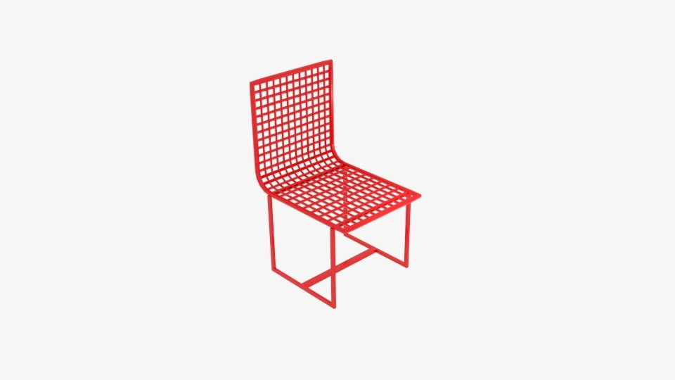 wireframe chair model