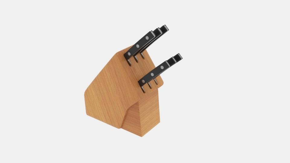 knife wood place 3D model
