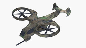 rigged drone 3D model