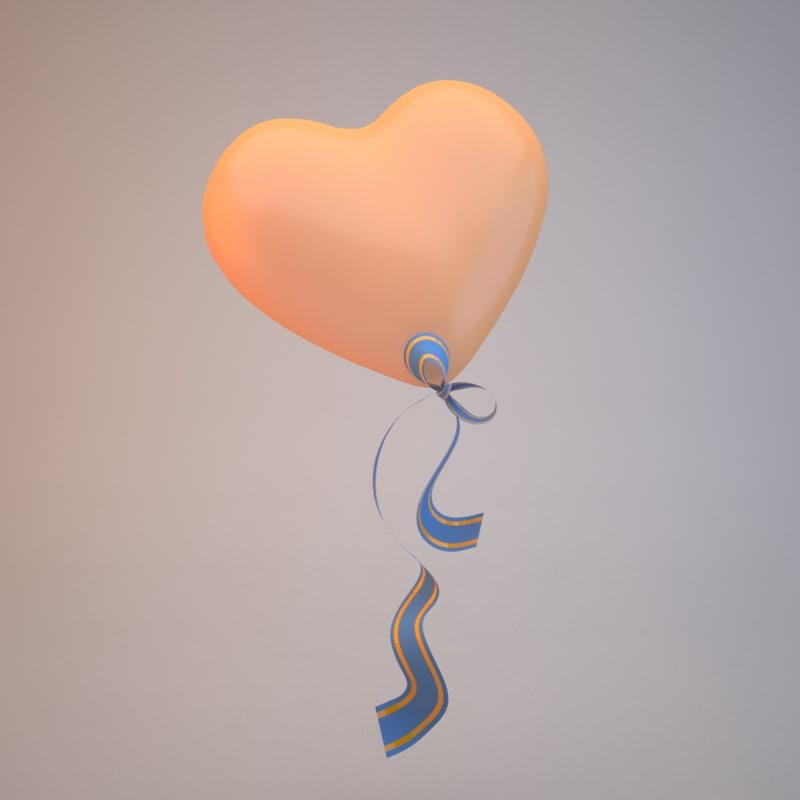 heart balloon 3D model