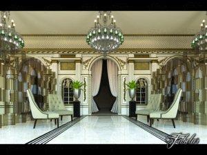 3D model hotel hall