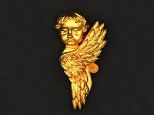 angel mold decor 3D model