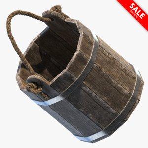 medieval pail 3D
