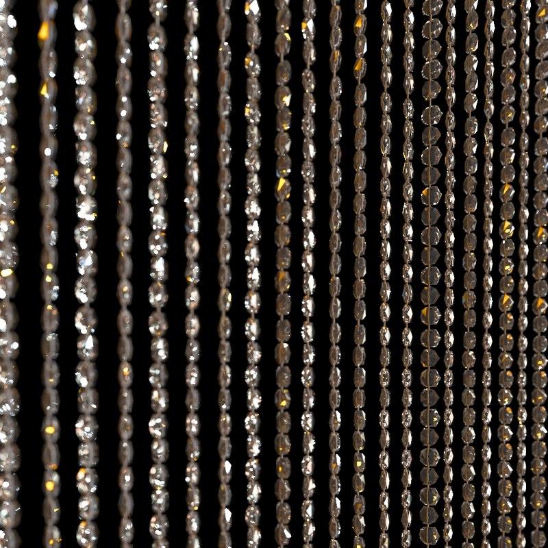 3D crystal curtain