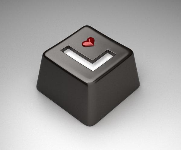 funny keyboard key chocolate 3D model