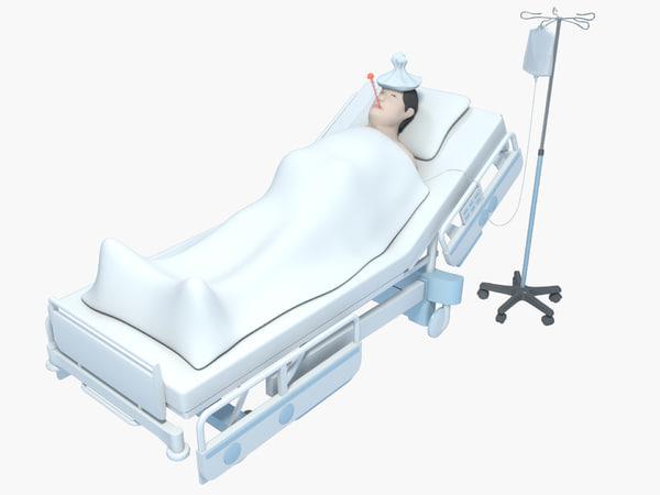 3D hospital patient model