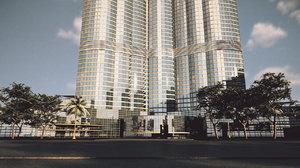 3D burj khalifa