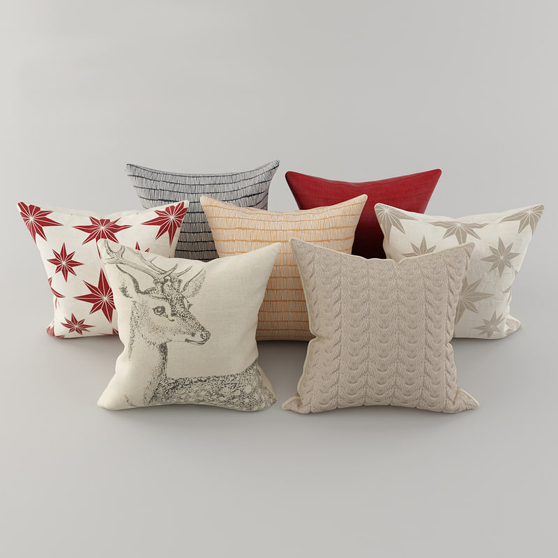 pillows h m 3D model