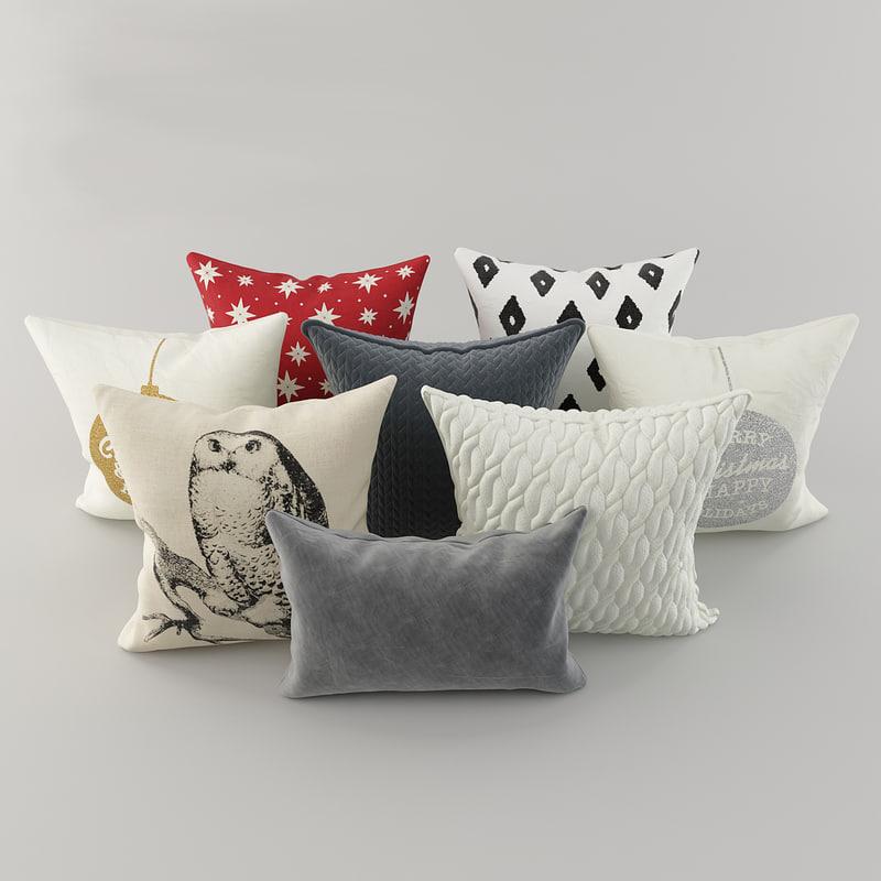 pillows h m 2 3D