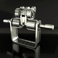 mechanical gears 3D model