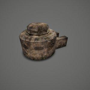 3D bunker model