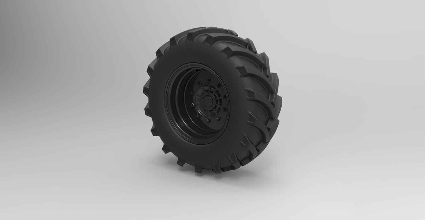 3D model wheel offroad