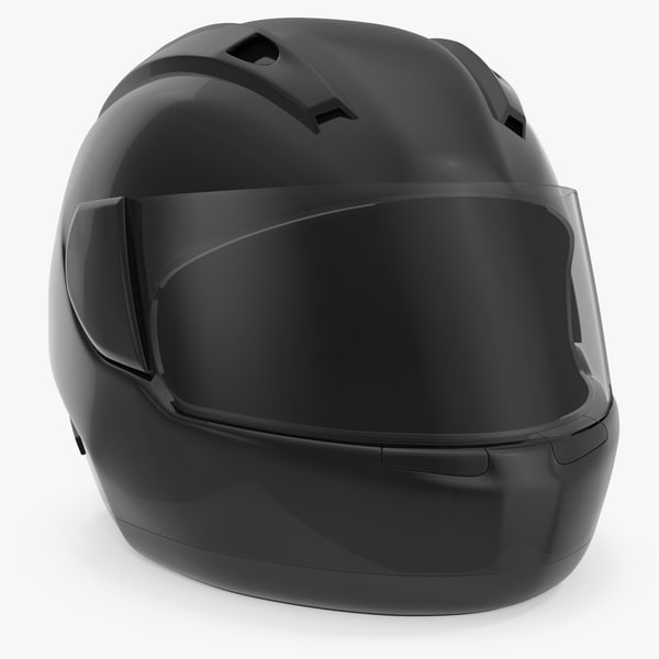 3D black face helmet