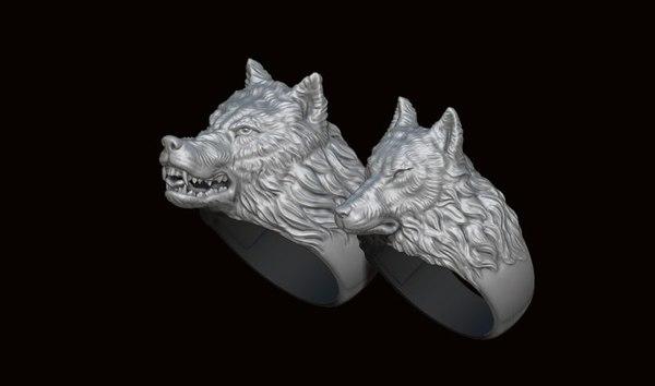 wolf ring pack 3D model