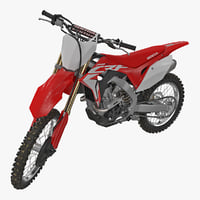 3D competition motorcycle honda crf250r model