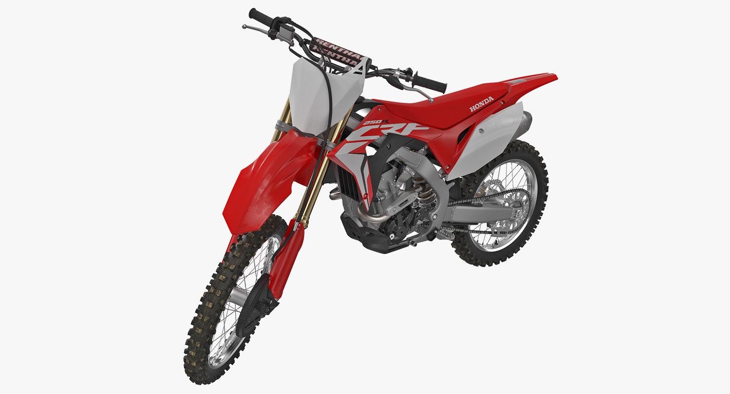 Competition Motorcycle Honda CRF250R 2018 Rigged 3D Model