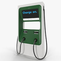 electric fast vehicle charger 3D model