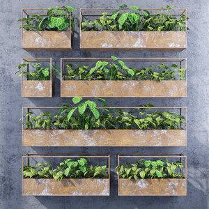 3D rectangular shelves model