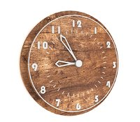 3D wooden wall clock