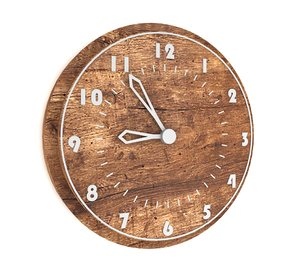 3D wooden wall clock