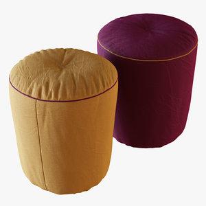 pouf drink 3D model