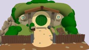 3D house hobbit model